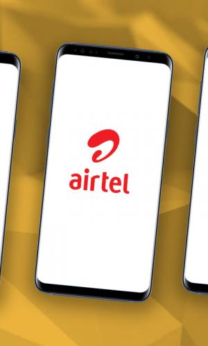 A graphic of three smartphones placed next to each other with the logos of Jio, Airtel and Vi