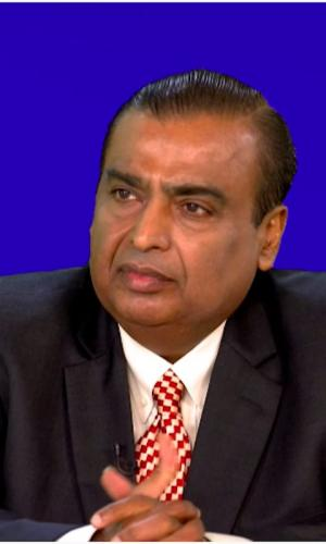 Mukesh Ambani at the Reliance Industries 43rd Annual General Meeting in