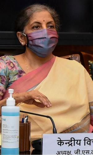 FM Nirmala Sitharaman at GST council meet