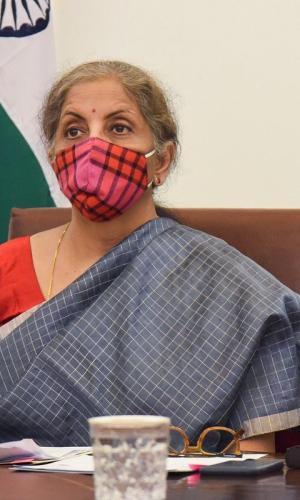 FM Nirmala Sitharaman during a G20 meet