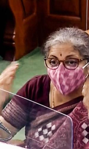 Nirmala Sitharaman speaks in Lok Sabha during the ongoing Monsoon Session of Parliament