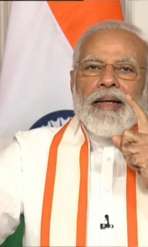 Modi speaking at the CII Annual session