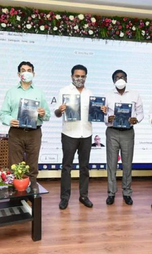 Telangana govt unveils EV Policy in the presence of IT Minister KT Rama Rao