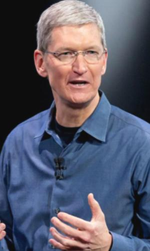 Apple CEO Tim Cook speaking