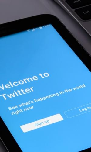 Twitter login page open on a tab