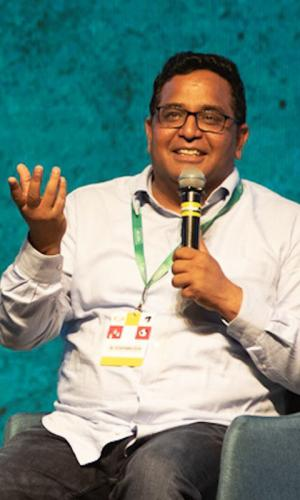 Paytm founder Vijay Shekhar Sharma at a Techsparks conference