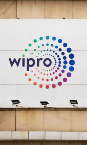 Wipro logo on a building