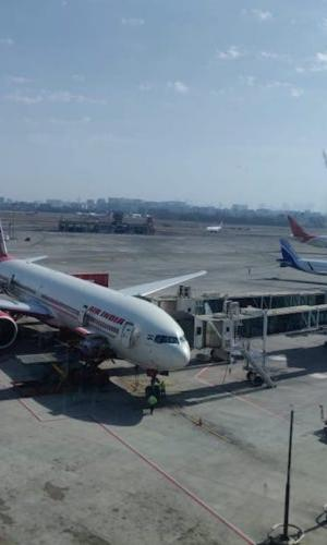 Air India plane parked