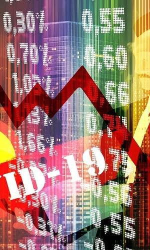 Stock Markets representative image showing a fall due to covid19