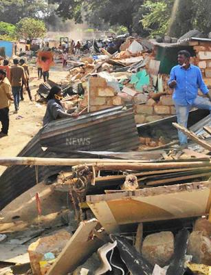 84 families protest after slum demolition in east Bengaluru leaves them homeless
