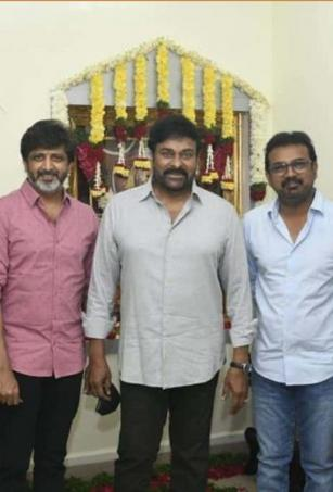 Chiranjeevi shares picture with his four 'captains'