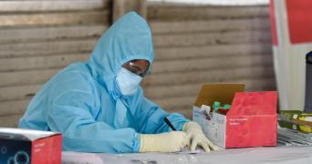 Health Worker at a COVID-19 Testing Centre