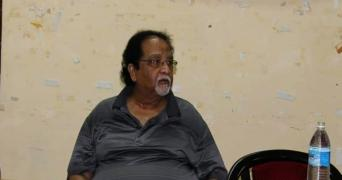 Dr Kolluri Chiranjeevi during a meeting at Osmania University