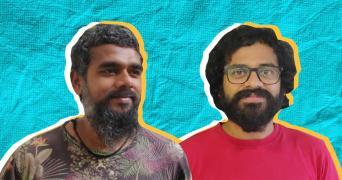 Kuthiraivaal directors Manoj Leonel Jahson and Shyam Sunder collage