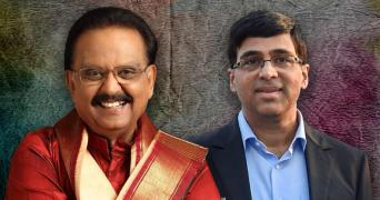 Singer SPB and Chess maestro Vishwanathan Anand in this picture