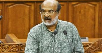Kerala finance minister Thomas Isaac presenting the Kerala budget 2021 in the Kerala Assembly