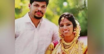 Kerala woman Uthra and her husband Sooraj. She died due to snakebite and Sooraj is accused of killing her.