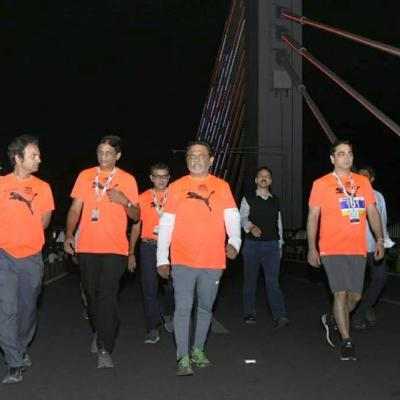10km and 5km runs held at Hyderabad's cable bridge