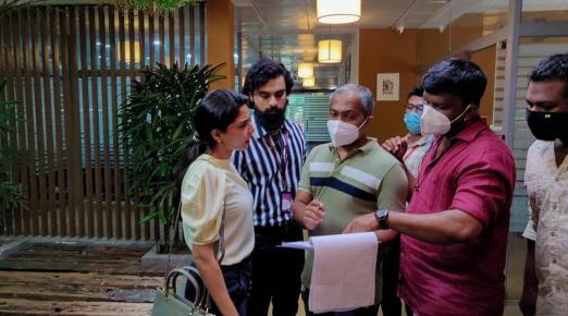 Pictures from Aishwarya Lekshmi and Tovino's 'Kaanekkaane' sets released