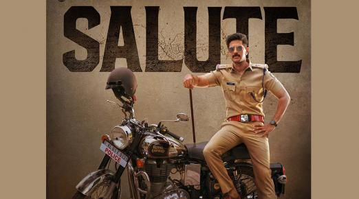Dulquer presents first look poster from upcoming film 'Salute'