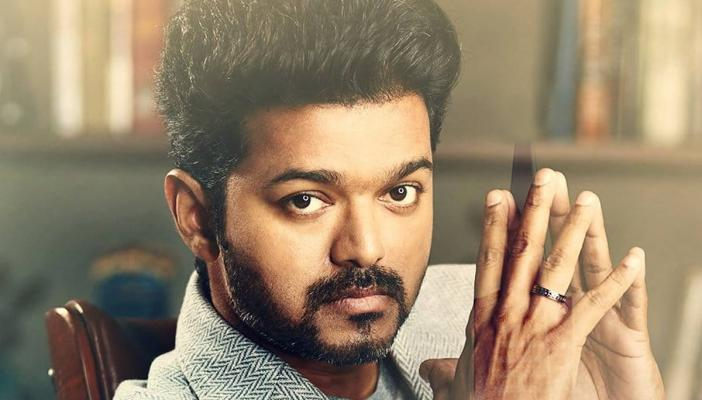 Actor vijay with his finger tips touching