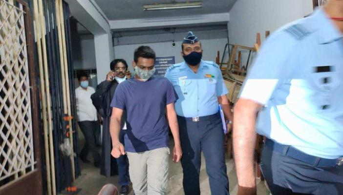 Rape Accused IAF Officer Amitesh from the Air Force Administrative College in Coimbatore in court