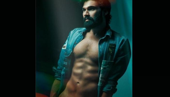 Bellamkonda Sai Srinivas in a jacket showing his six pack body