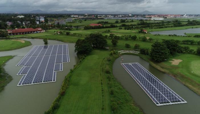 Solar floating plants in Cochin airport