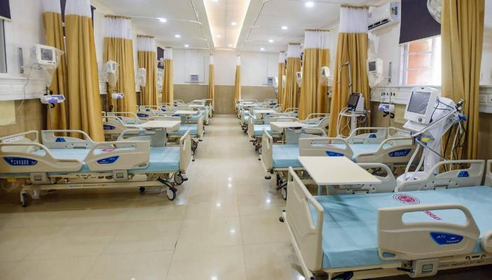 ICU ward in a hospital set up for Covid patients