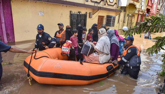 Hyderabad floods GHMC does not have enough boats for rescue allege residents