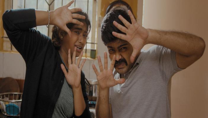 Nagabhushana and Bhoomi Shetty in a still from Kannada film Ikkat