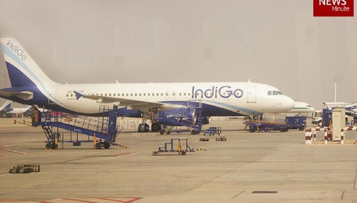 IndiGo plane on the tarmac