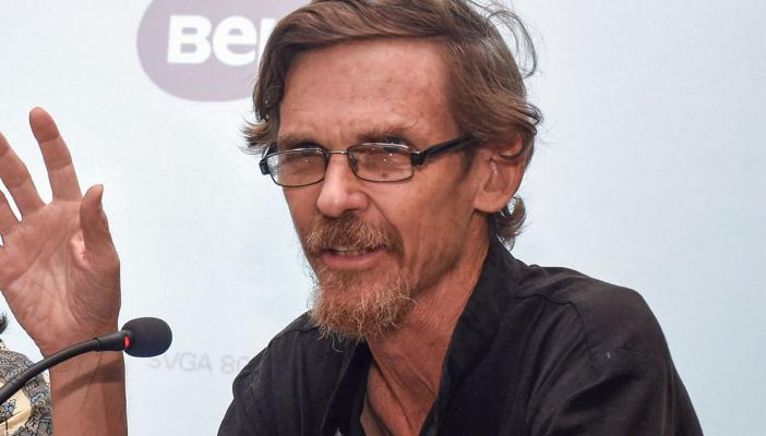 Jean Dreze speaking at a conference