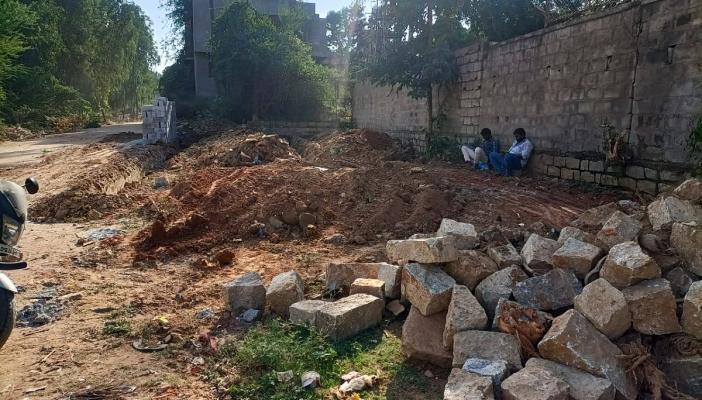 Construction material dumped within the Junnasandra Lake survey area