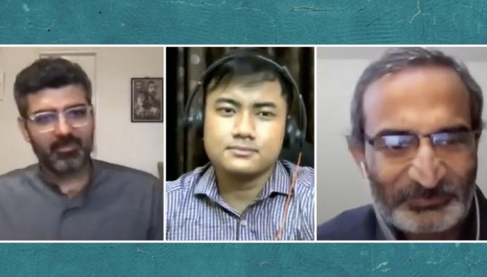 Sameer Raichur, Professor Srinivas SV and ASL sign interpreter
