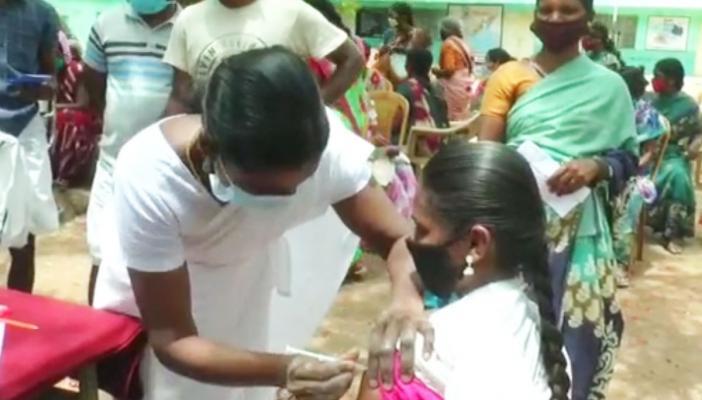 Authorities vaccinating tribal people in Nilgiris