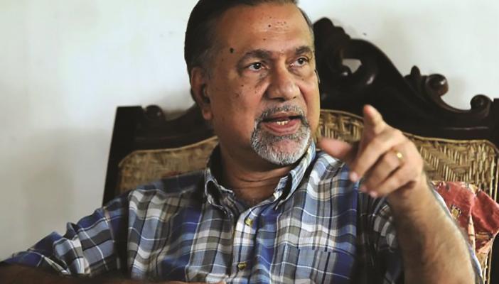 PK Michael Tharakan speaking in an interview