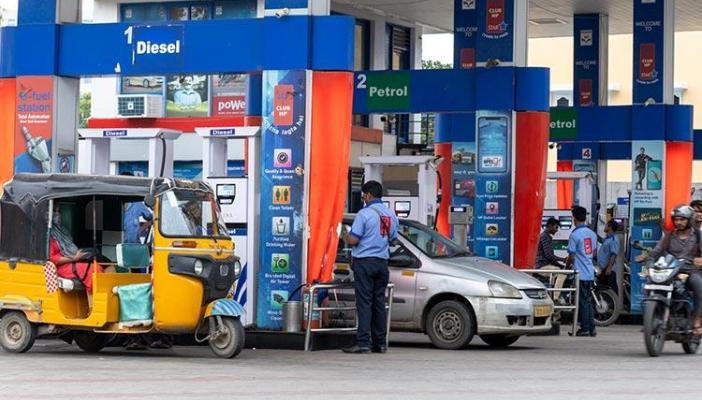 A file photo of a Petrol pump in a city