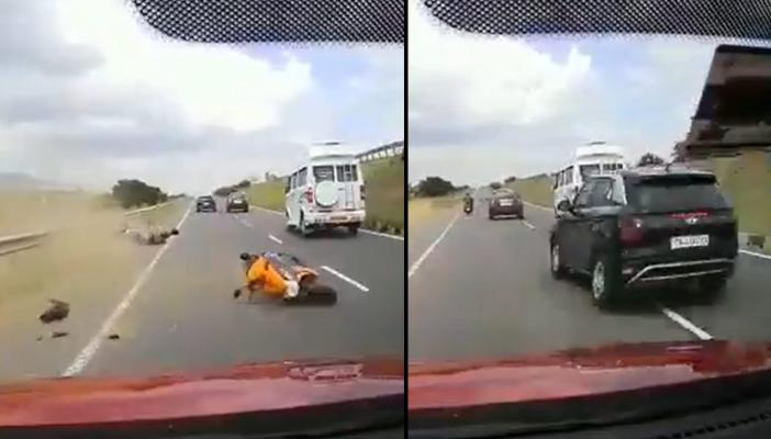 Visuals of the accident on Salem-Coimbatore Highway in Tamil Nadu