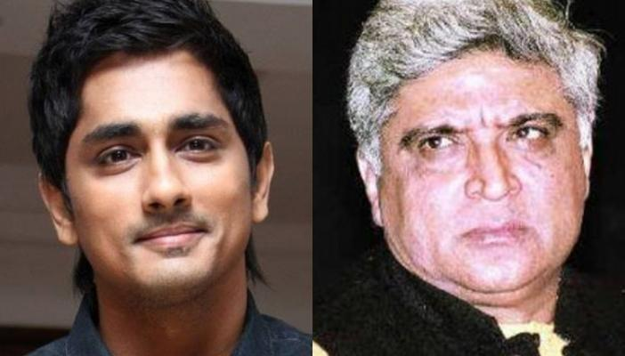 Actor Siddharth schools Javed Akhtar on Tamil film title poet punishes himself