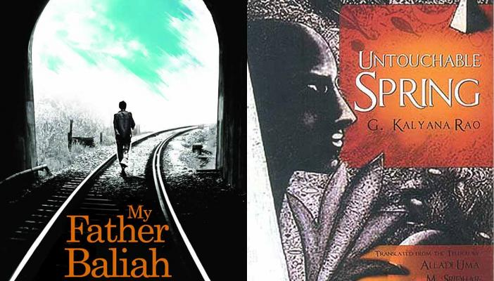 Covers of the books My Father Baliah and Untouchable Spring