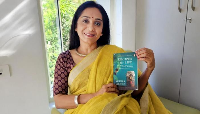 Sudha Menon, author of the book Recipes for Life