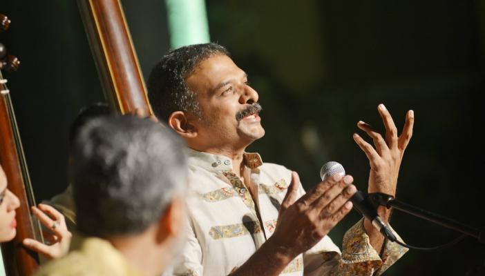 TM Krishna enjoying a concert