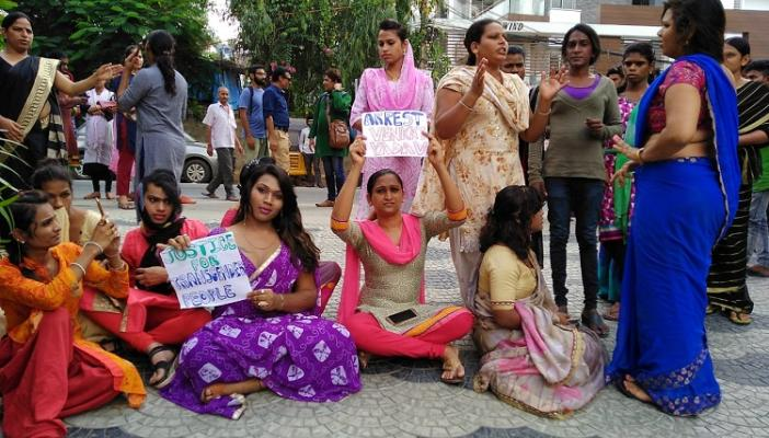 Harassed and beaten Transgender persons protest in Hyd demand arrest of extortionist