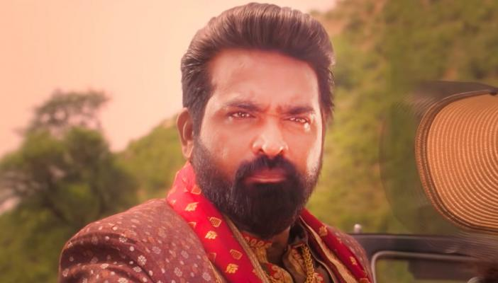 Vijay Sethupathi wearing a sherwani in Annabelle Sethupathi still