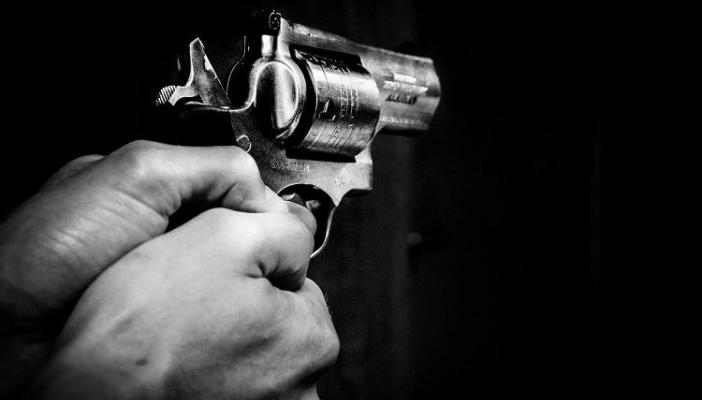 Gun being held by shooter