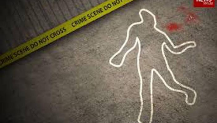 A drawing of a crime scene where a person is left murdered