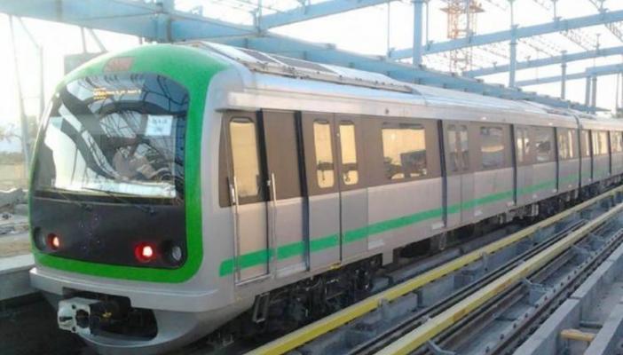 Namma Metro's green line train