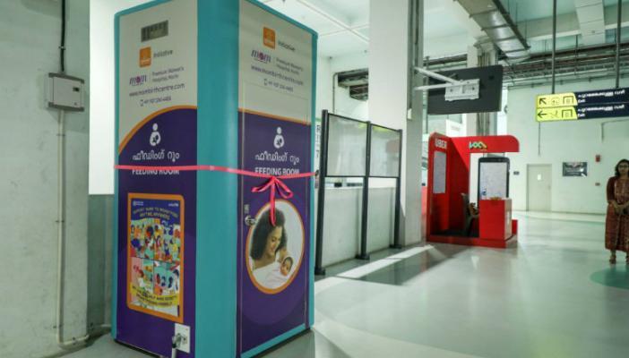 Breastfeeding pod installed at Aluva metro station in Kochi