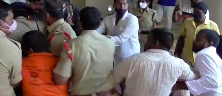 Video: Telangana cops allege BJP supporters attacked them and ran away with Rs 5 lakh